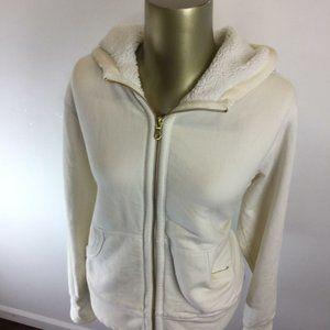 EDDIE BAUER Zip Up White Hoodie Sweatshirt